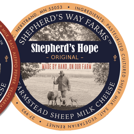 Shepher'd Way Farms artisan sheep cheese package design