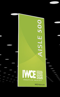 IWCE 2020 aisle signs
