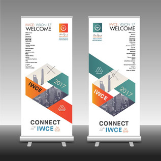 IWCE 2017 roll-up banner signs