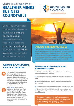 Mental Health Colorado flyer