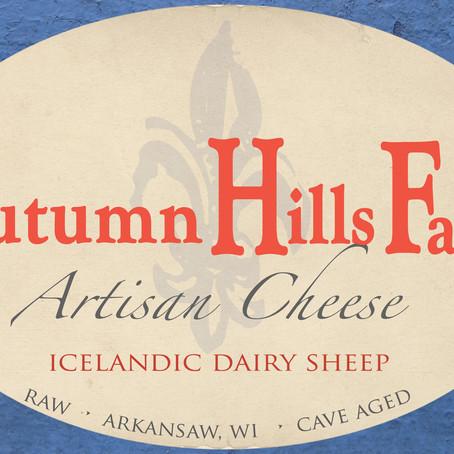 Artisan cheese label for Autumn Hills Farm