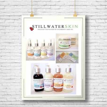 Stillwater Skin branding, logo and package design