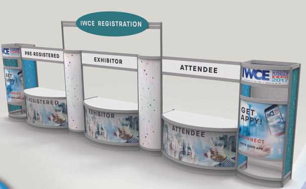 IWCE registration counter