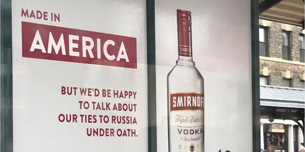 Smirnoff Vodka Trolls Trump With New Bus Stop Ad