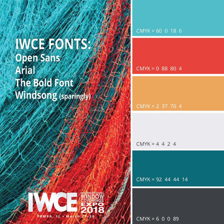 IWCE 2018 color palette