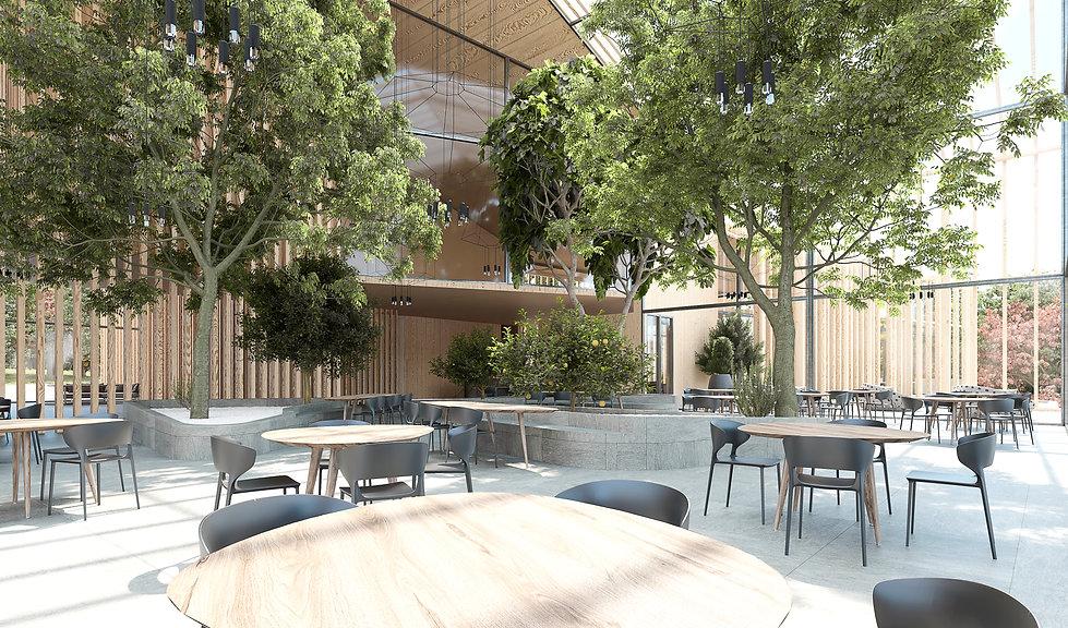 Restaurante Render JCBAB Arquitectura