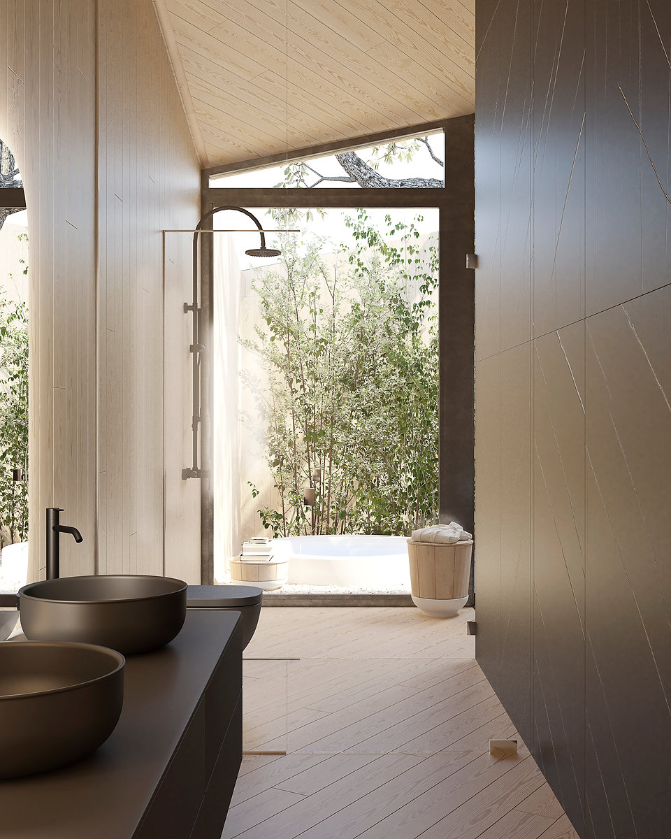 Baño Render JCBAB Arquitectura