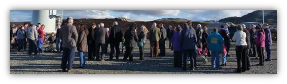 Horshader Wind Turbine Opening Ceremony