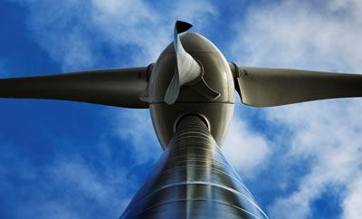 Photograph of wind turbine taken by Murdo MacLeod