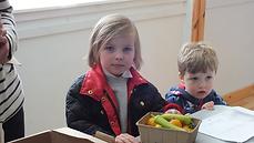 Children Enjoying the Community Market