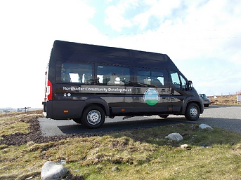 The Horshader Minibus parked outside our offices