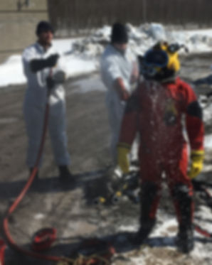 decontamination, scaphandrier, MVC ocean