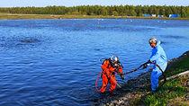 étangs aérés, Rimouski, plongeur