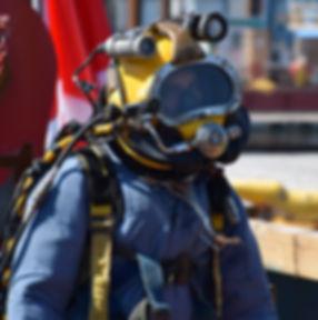 scaphandrier de MVC océan