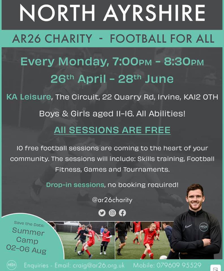 FOOTBALL FOR ALL IN NORTH AYRSHIRE