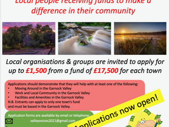 Garnock Valley Community Groups urged to apply for 'Valley Voices' Funding Now