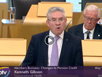 Kenneth Gibson MSP Leads Debate on Pension Credit