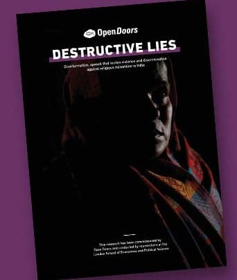 """""""DESTRUCTIVE LIES"""" - OPEN DOORS REPORT REVEALS """"SYSTEMATIC PERSECUTION OF CHRISTIANS IN INDIA"""