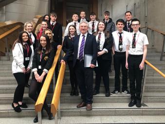 St Matthew's Pupils at the Scottish Parliament