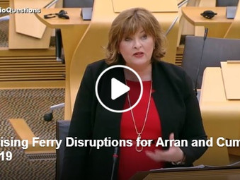 Minimising Ferry Disruptions for Arran and Cumbrae through Resilience Funding