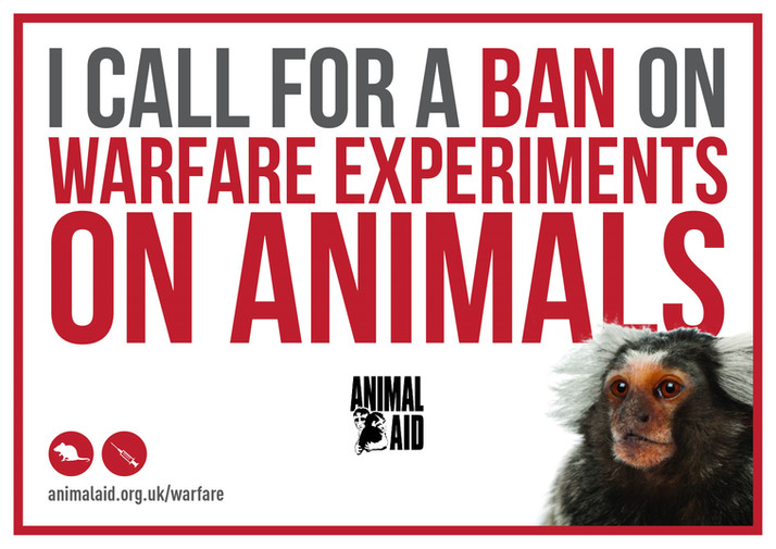 BAN WARFARE EXPERIMENTS ON ANIMALS