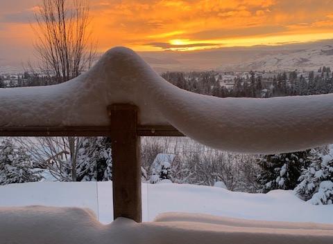 sunset over North Okanagan 2019