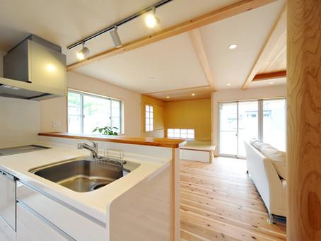 対面キッチンのカウンター、整理されていますか?