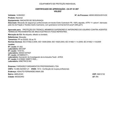CA 41.597 (MACACÃO)
