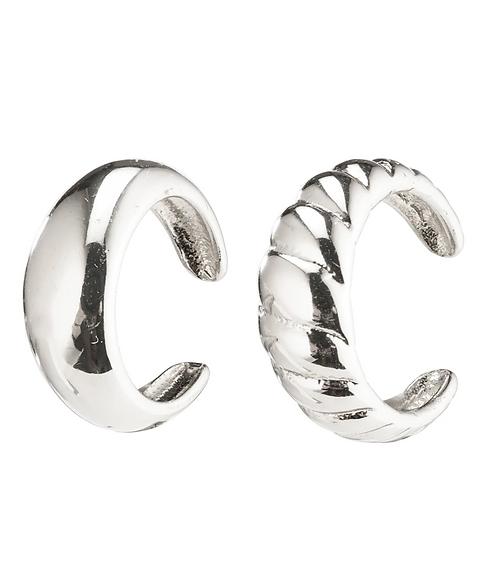 Pilgrim Earrings : Helga : Silver Plated