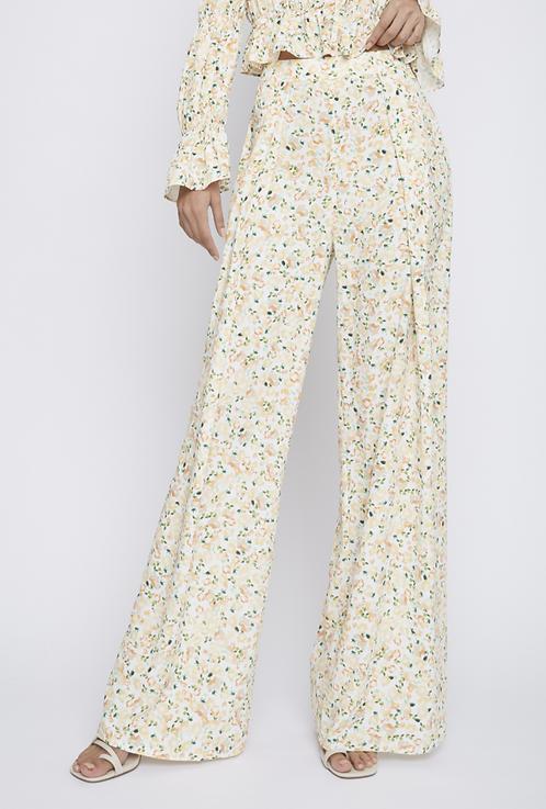 Wide Leg Floral Pant