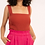 Thumbnail: Knit Tank Top with Square Neckline (2Colors)
