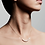 Thumbnail: Pilgrim Necklace : Chloe : Gold Plated : White