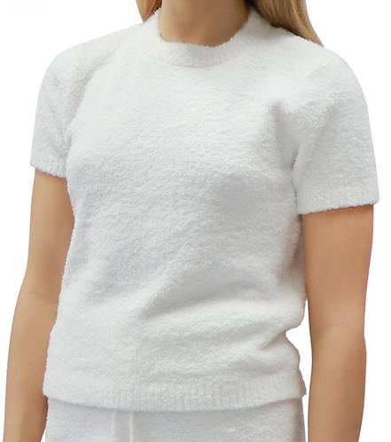 Cozy Plush Short Sleeve Sweater