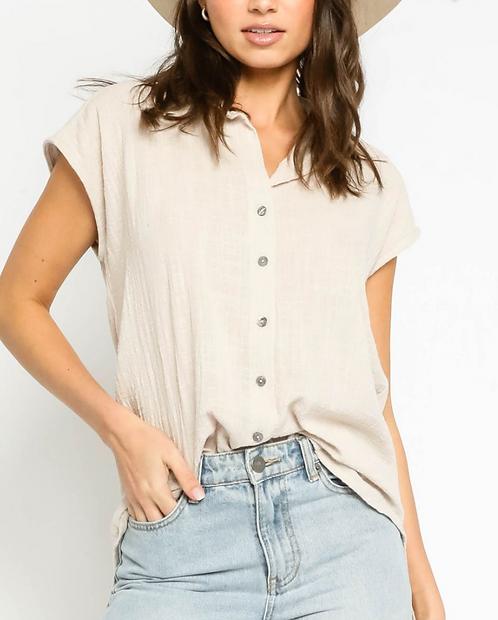 Gauze Button Up Shirt (2Colors)