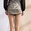 Thumbnail: Paisley Print Short Satin Skirt