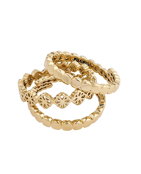 Pilgrim Ring : Cherished : Gold Plated