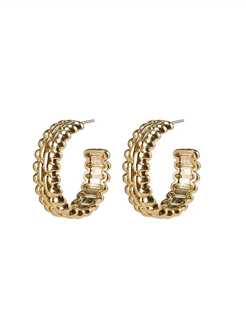 Earrings : Tasha : Gold Plated