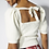 Thumbnail: Open Back Knit Top - Off White