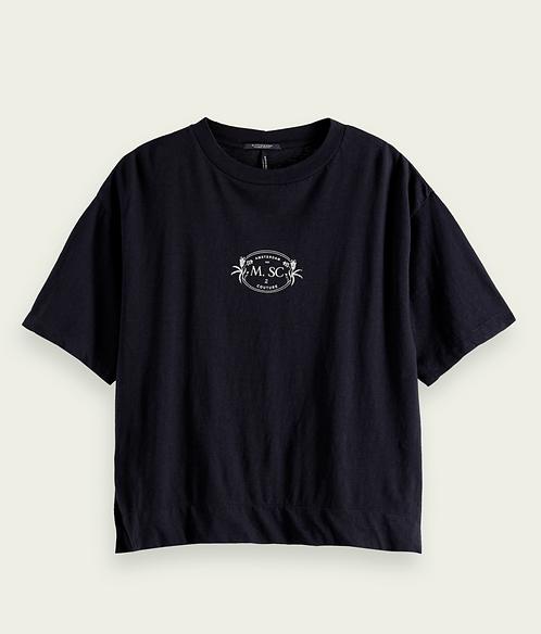 Scotch&Soda Printed Cotton-Linen T-shirt (2Colors)