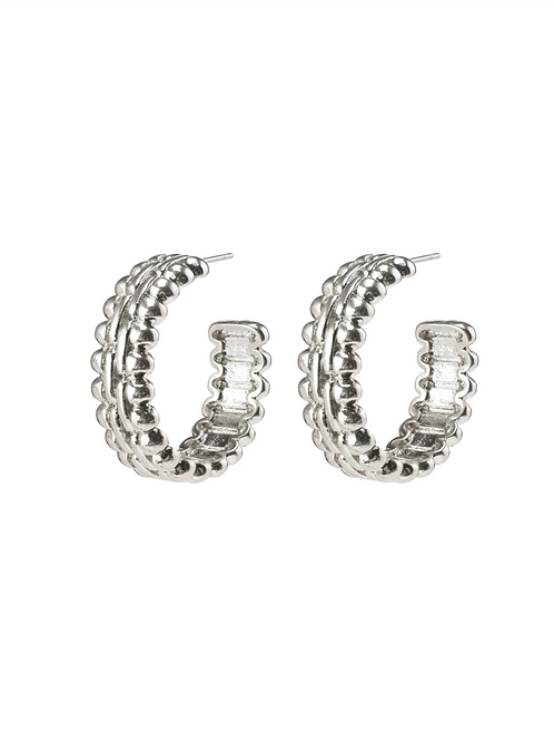 Earrings : Tasha : Silver Plated