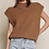 Thumbnail: Sweater Vest with Shoulder Pads - Brown