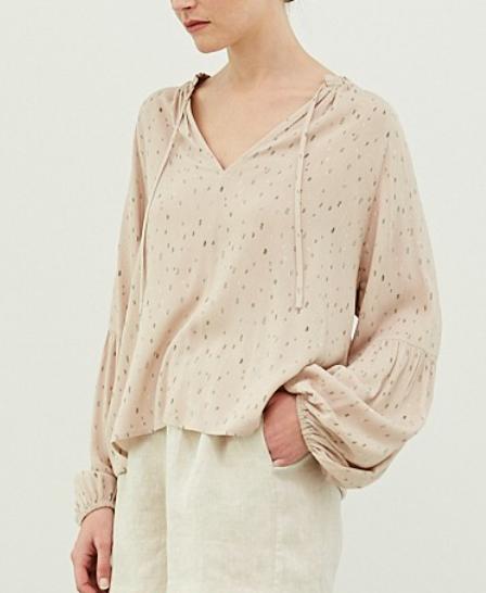 Shirred Sleeve Blouse