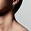 Thumbnail: Pilgrim Earrings : Gabrina : Silver Plated