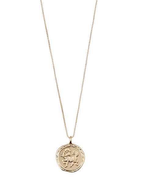 Pilgrim Necklace : Sagittarius Zodiac Sign : Gold Plated : Crystal