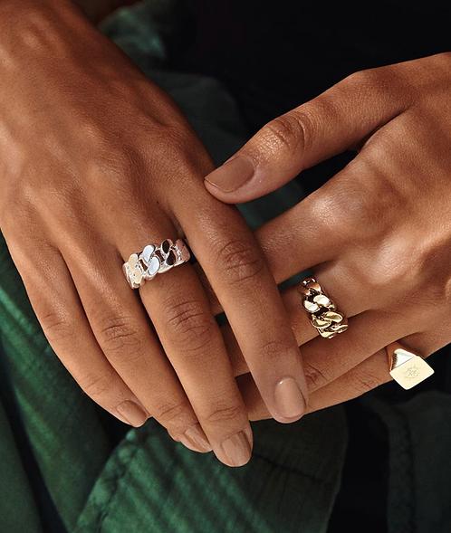 Pilgrim Ring : Maren : Silver Plated