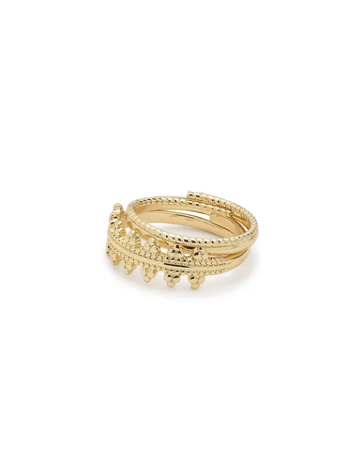 Pilgrim Ring : Kiku : Gold Plated
