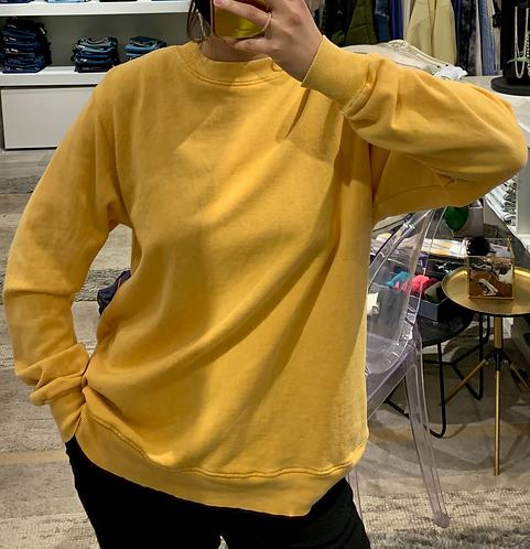 Washed French Terry Two-ToneSweatshirt