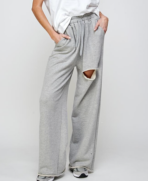 French Terry One Side Cut Out Sweatpant