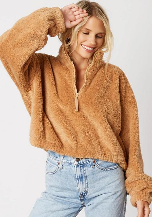 Half Zip-up Cozy Sweater