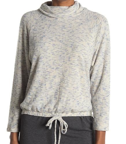 Funnel Neck Drawstring Sweater
